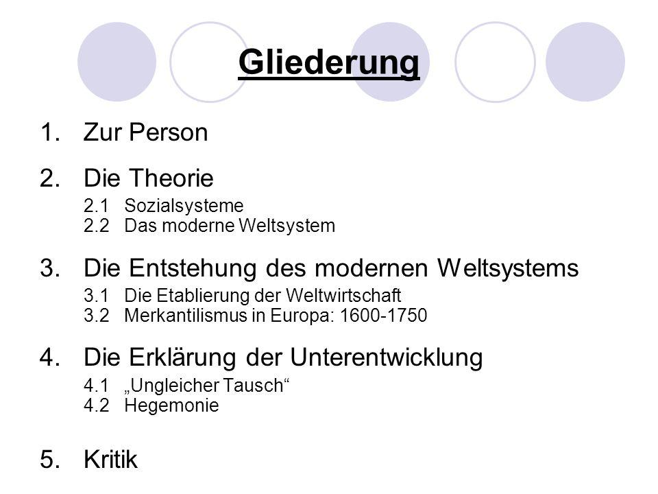 4.2 Hegemonie Vier gemeinsame Merkmale der Hegemone: -Abfolge des ökonomischen Aufstiegs und Niedergangs.