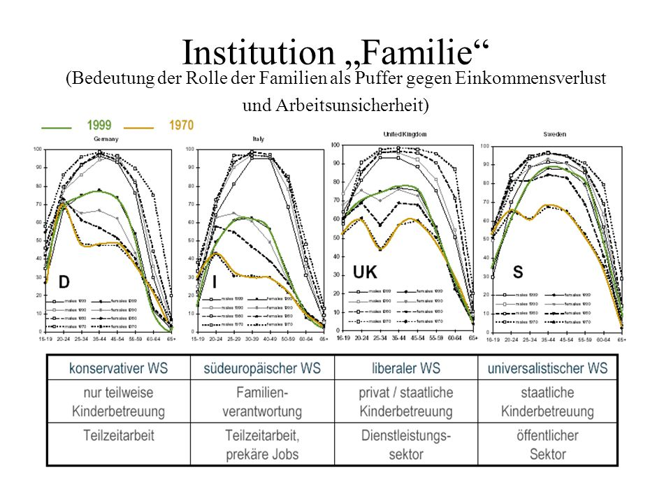 Institution Familie (Bedeutung der Rolle der Familien als Puffer gegen Einkommensverlust und Arbeitsunsicherheit)