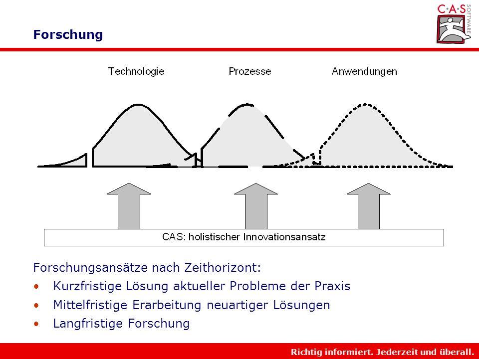 Richtig informiert. Jederzeit und überall. Preis-Performance-Kurve von Innovationen! tt 3 t 2 t 1 Nischen- markt Pionier- markt Massen- markt 1 2 = Tr