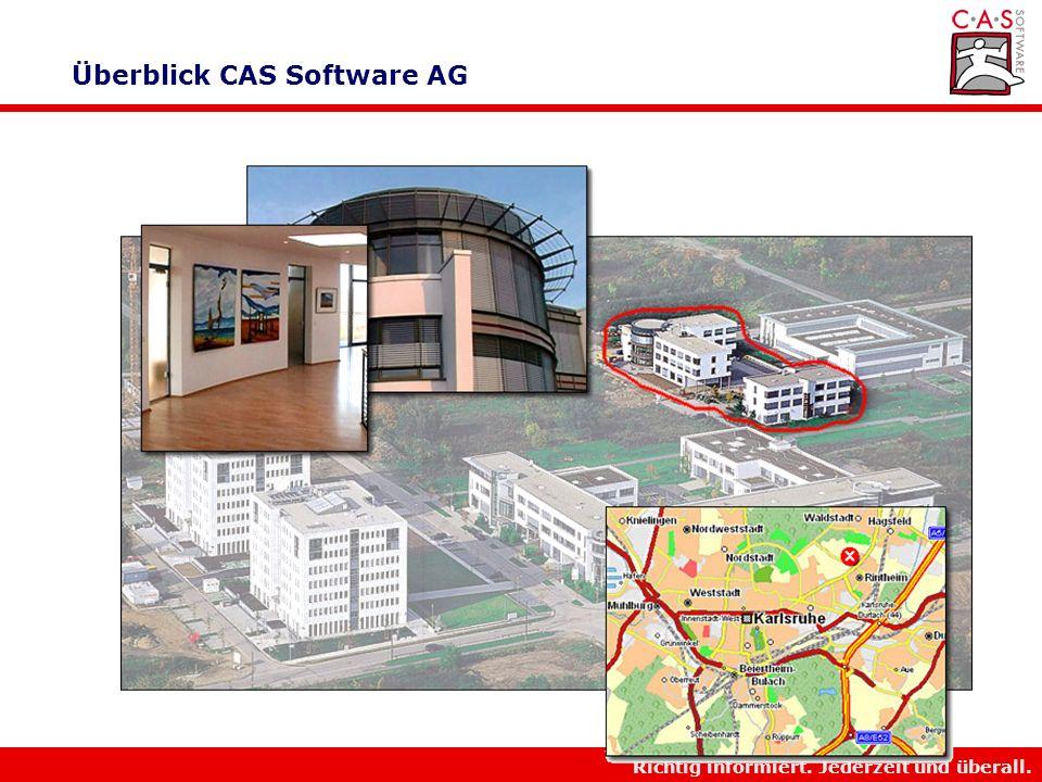 Richtig informiert. Jederzeit und überall. Überblick CAS Software AG