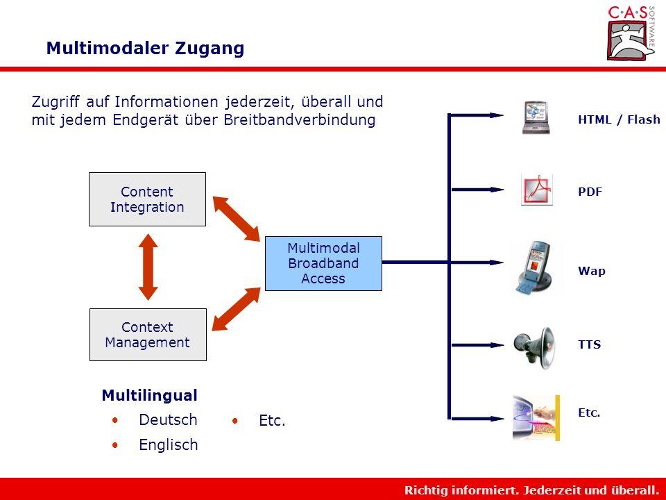 Richtig informiert. Jederzeit und überall. Kontext Management Personalisierung Kontext- Ontologie Unternehmens- gedächtnis Beruf/Aufgabe Bevorstehende