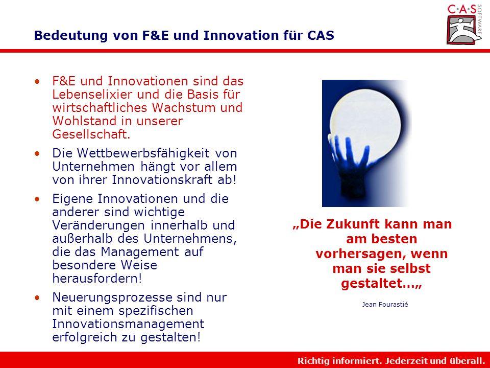 Richtig informiert. Jederzeit und überall. Facts zu CAS und Beteiligungen Kennzahlen der gesamten CAS-Gruppe: (CAS und Beteiligungen in denen CAS größ