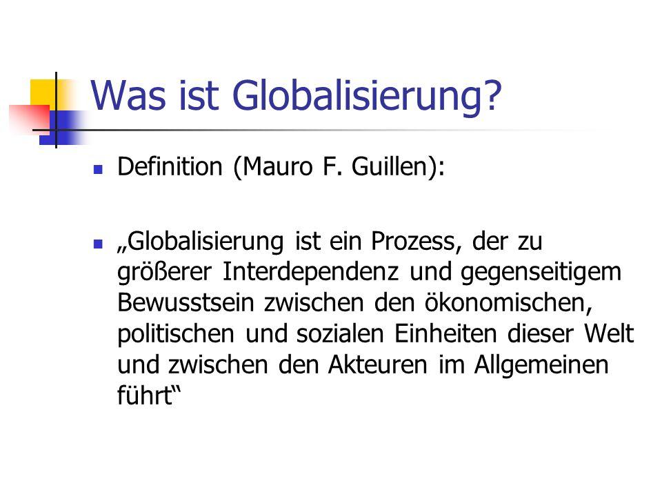 Was ist Globalisierung.Definition (Mauro F.