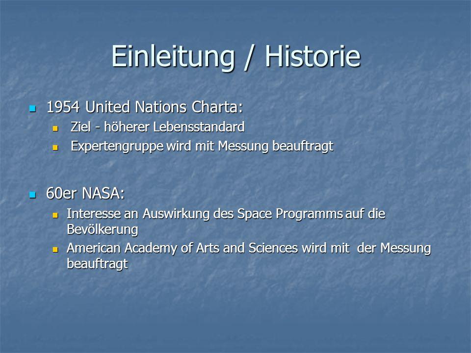 Einleitung / Historie 1954 United Nations Charta: 1954 United Nations Charta: Ziel - höherer Lebensstandard Ziel - höherer Lebensstandard Expertengrup