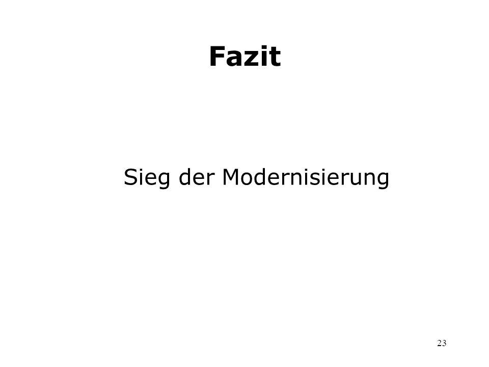 23 Sieg der Modernisierung Fazit