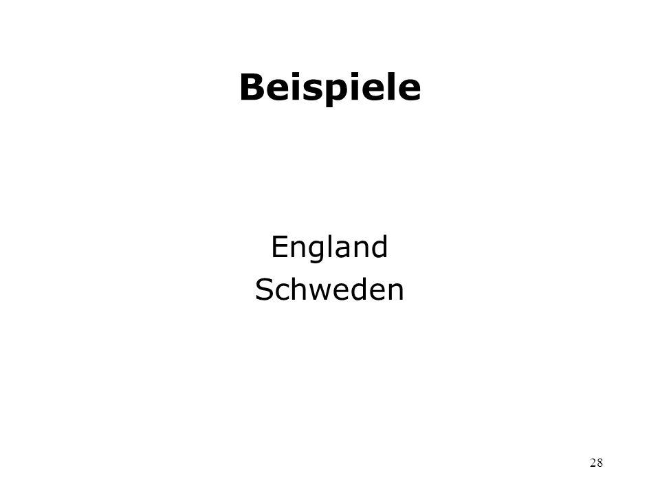 28 Beispiele England Schweden