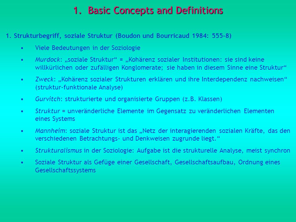 1.Basic Concepts and Definitions (contd) 2.