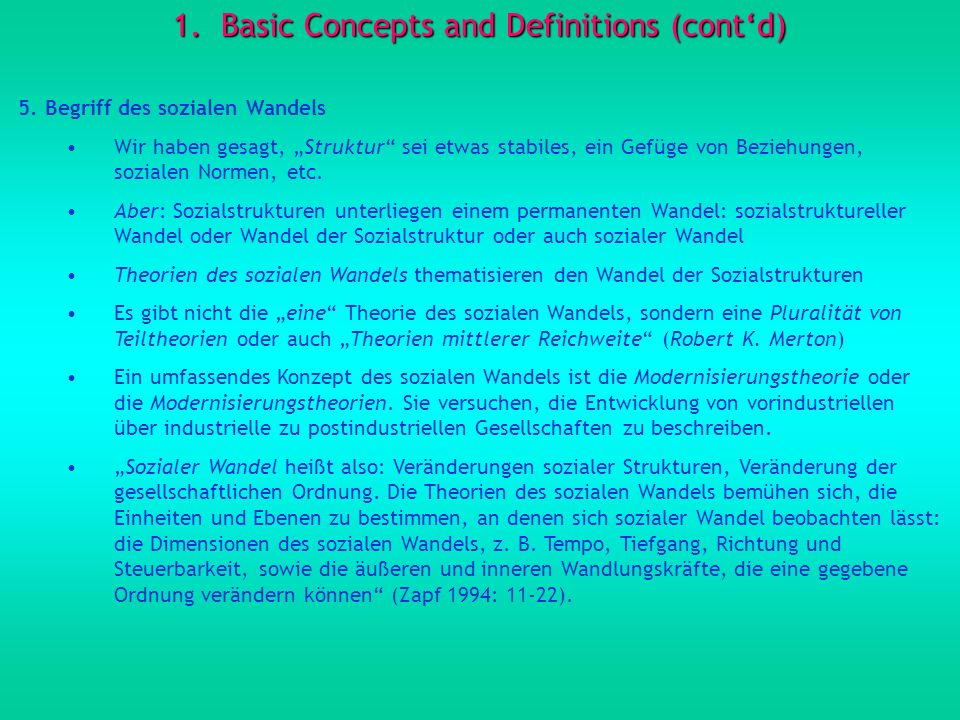 1.Basic Concepts and Definitions (contd) 5.