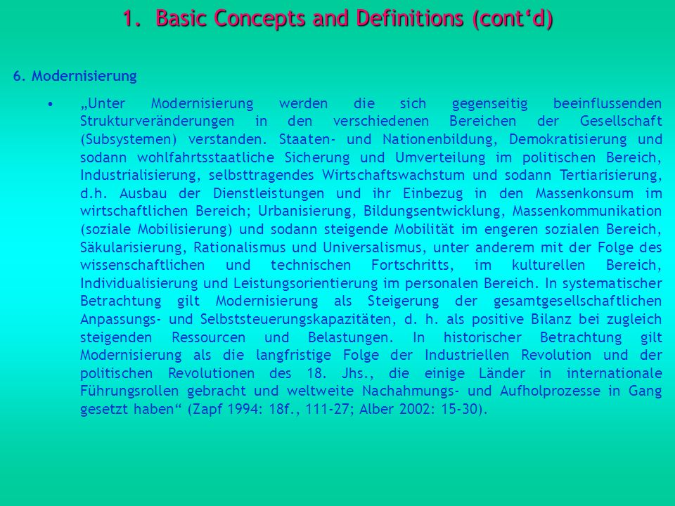 1.Basic Concepts and Definitions (contd) 6.
