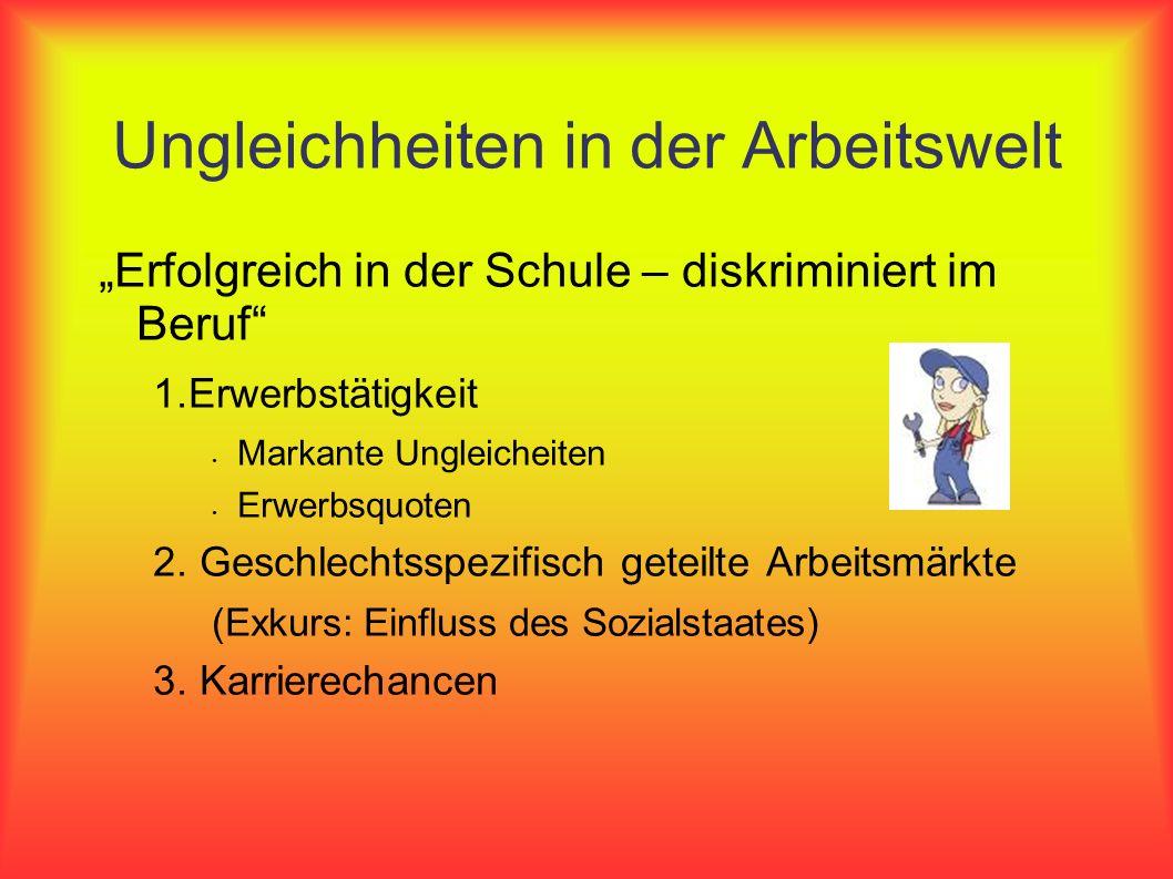 Anregungen Gleichstellungspolitik in Deutschland Was sind die zentralen Kritikpunkte/Mängel.