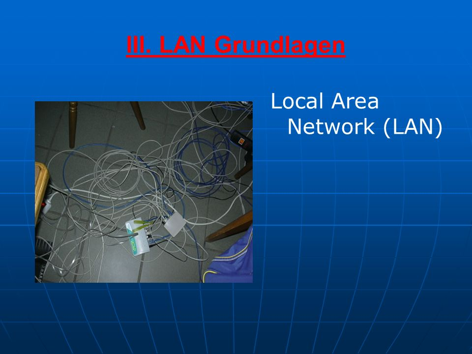 III. LAN Grundlagen Local Area Network (LAN)
