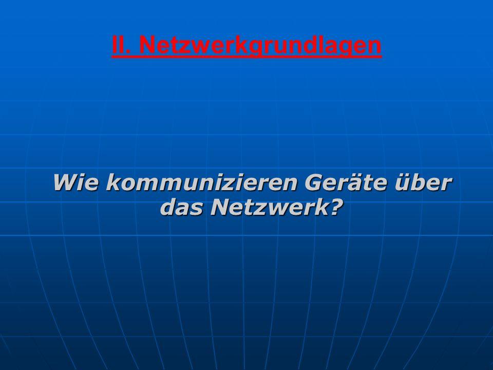 II. Netzwerkgrundlagen Wie kommunizieren Geräte über das Netzwerk?