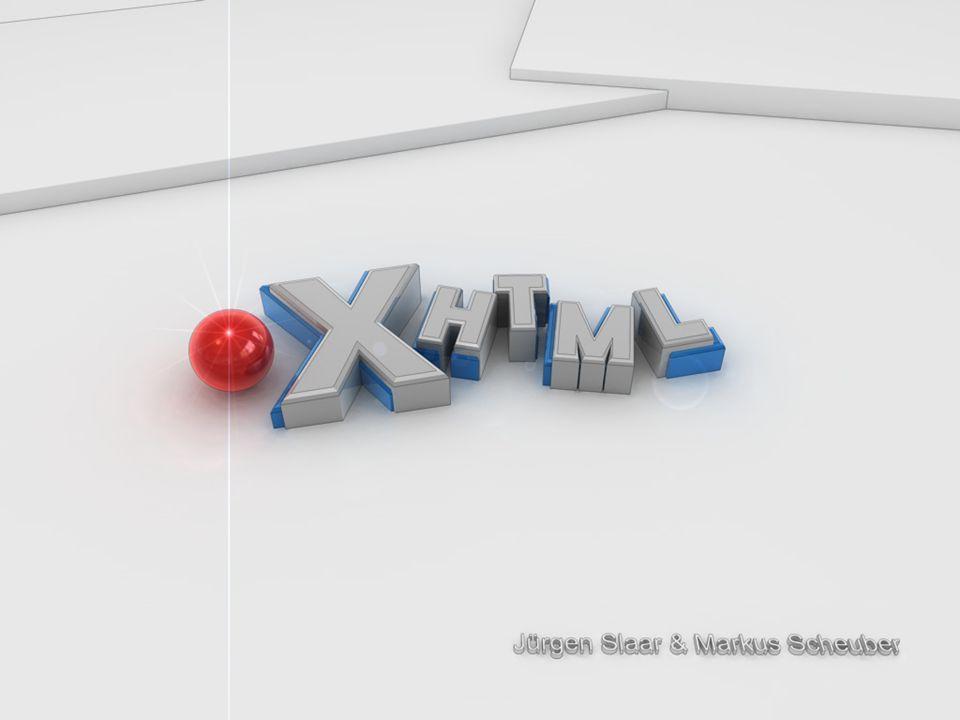 22 Browserverhalten (Quelle: http://www.w3.org/People/mimasa/test/xhtml/media-types/results) BrowserPlattformtext/htmlapplication/xhtml+xmlapplication/xml Microsoft Internet Explorer 6.0SP2 Windows XP SP2 recognized as HTML not supportedfehlerhaft Mozilla Firefox 0.8 Windows XP, MacOS X (v10.2.8) recognized as HTML recognized as XHTML Netscape 7.2Windows XP, MacOS X (v10.2.6) recognized as HTML recognized as XHTML