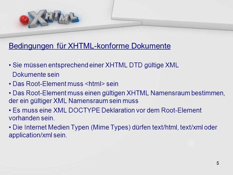 16 XHTML Basic > Einschränkungen 1/2 Formulare: Nur Grundstamm von Forumlarelementen (form, input (text, password, checkbox, radio, submit, reset, hidden), label, select, option und textarea ) Gestaltung und Rahmen: Einige Text-Elemente werden nicht unterstützt ( u.a.