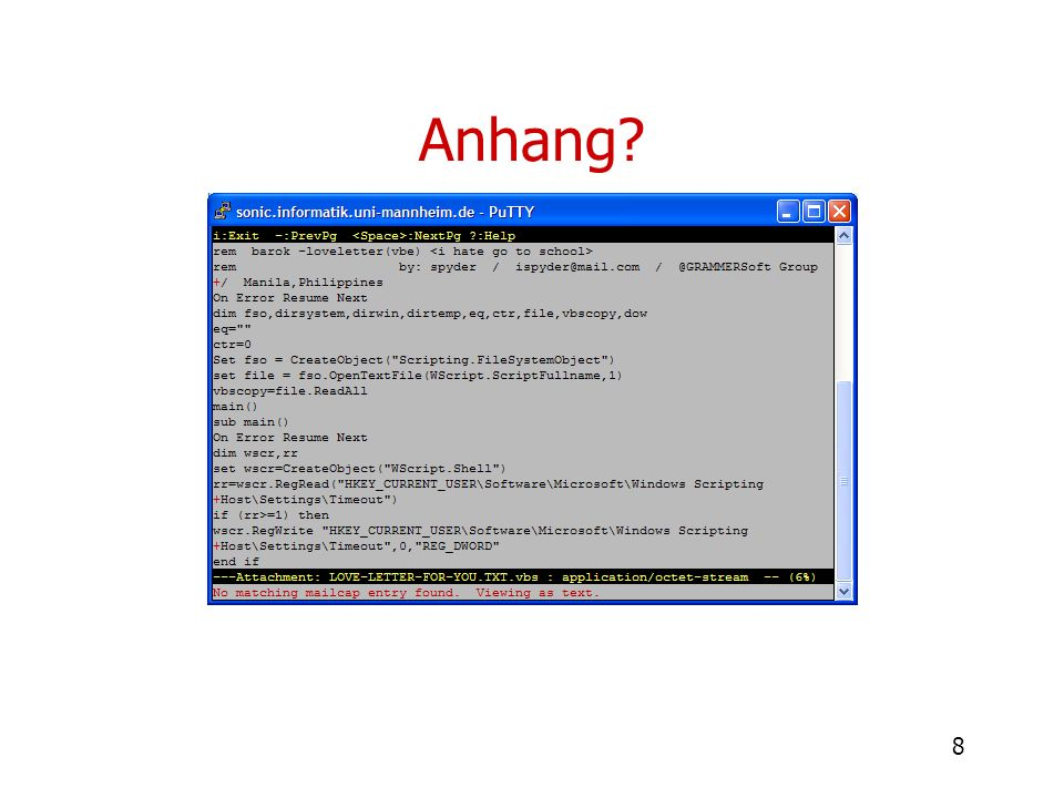 39 Anfrage nach Webseite normaler Ablauf Ablauf mit Flux Webserver: www.example.de DNS-Server Fluxe Opfer