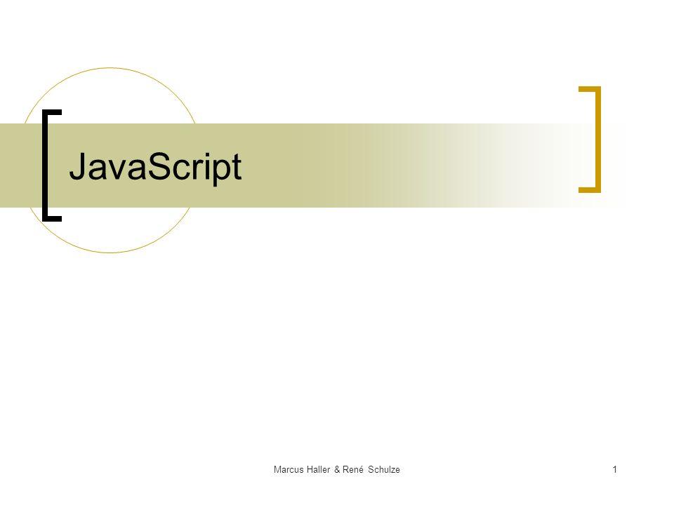 1Marcus Haller & René Schulze JavaScript