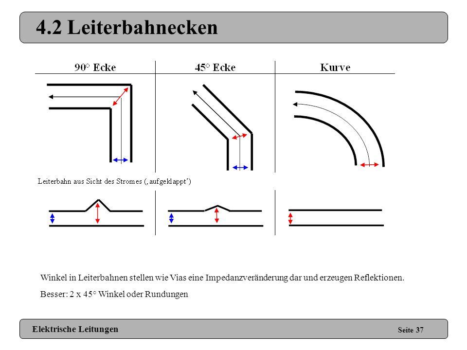 4.1 Vias / Pads Seite 36 Vias und Pads stellen eine Impedanzveränderung dar und rufen schon bei niedrigen Frequenzen (MHz-Bereich) Reflektionen hervor