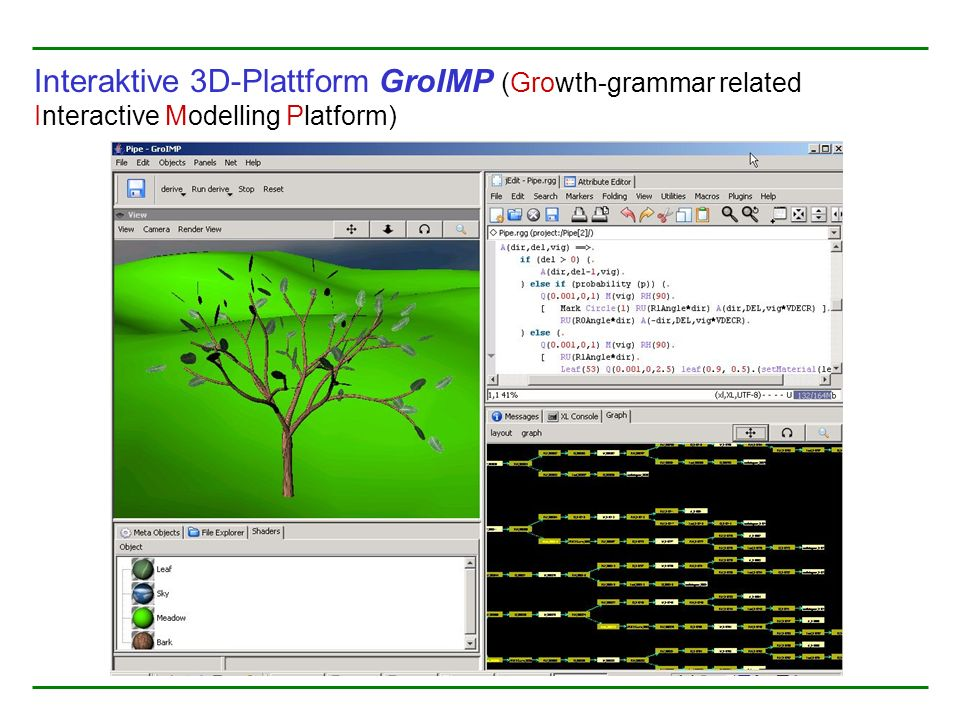 Interaktive 3D-Plattform GroIMP (Growth-grammar related Interactive Modelling Platform)