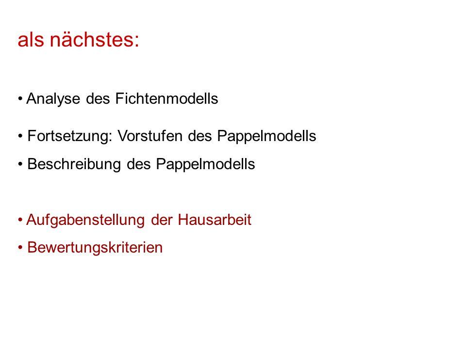 Fichtenmodell in XL /* Fichtenmodell sm09_fichte.rgg, W.K.