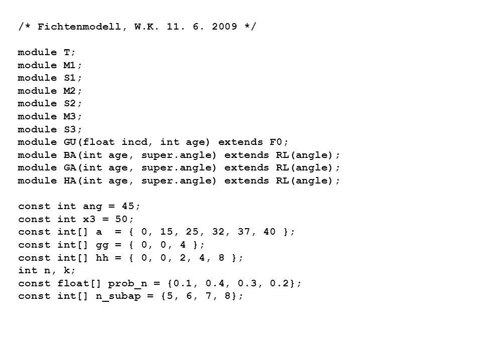 /* Fichtenmodell, W.K. 11. 6. 2009 */ module T; module M1; module S1; module M2; module S2; module M3; module S3; module GU(float incd, int age) exten