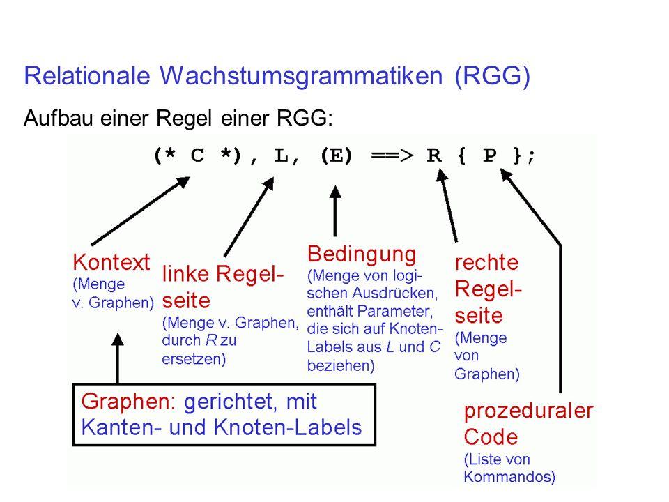Relationale Wachstumsgrammatiken (RGG) Aufbau einer Regel einer RGG: