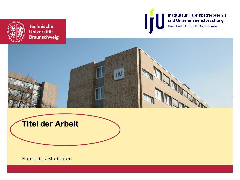 Titel  Name   Seite 2 © IFU Das IFU im Überblick Quellenangabe Arial, kursiv 10 Punkte Text Arial Mind.