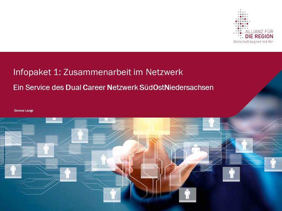 Infopaket 1: Zusammenarbeit im Netzwerk Ein Service des Dual Career Netzwerk SüdOstNiedersachsen Simone Lange