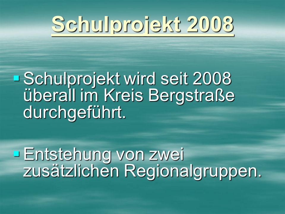 Schulprojekt 2008 Schulprojekt wird seit 2008 überall im Kreis Bergstraße durchgeführt. Schulprojekt wird seit 2008 überall im Kreis Bergstraße durchg