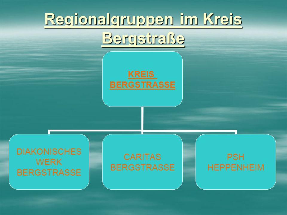 Regionalgruppen im Kreis Bergstraße KREIS BERGSTRASSE DIAKONISCHES WERK BERGSTRASSE CARITAS BERGSTRASSE PSH HEPPENHEIM