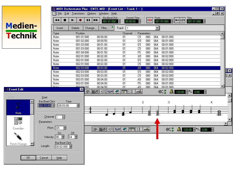 Medien- Technik Midi Beispiel Piano