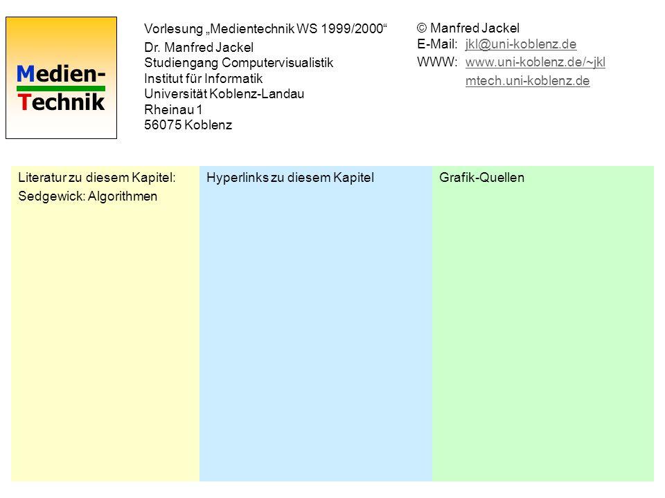 Medien- Technik Vorlesung Medientechnik WS 1999/2000 Dr.