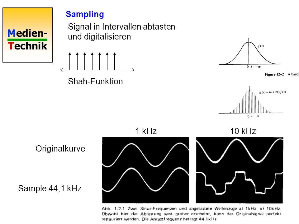 Medien- Technik Sampling 440 Hz-Ton fade in