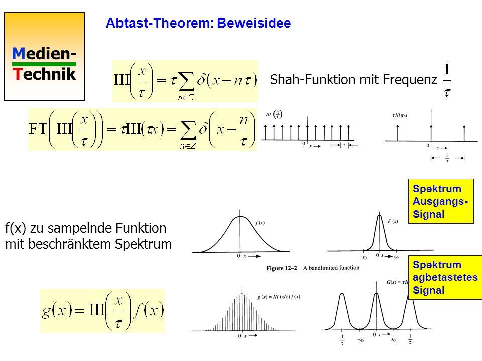 Medien- Technik Sampling: Leise Stellen 1 Rauschen und Knistern bei geringer Samplingtiefe Nichtlineares Abtasten A-law μ-law -Abtastung