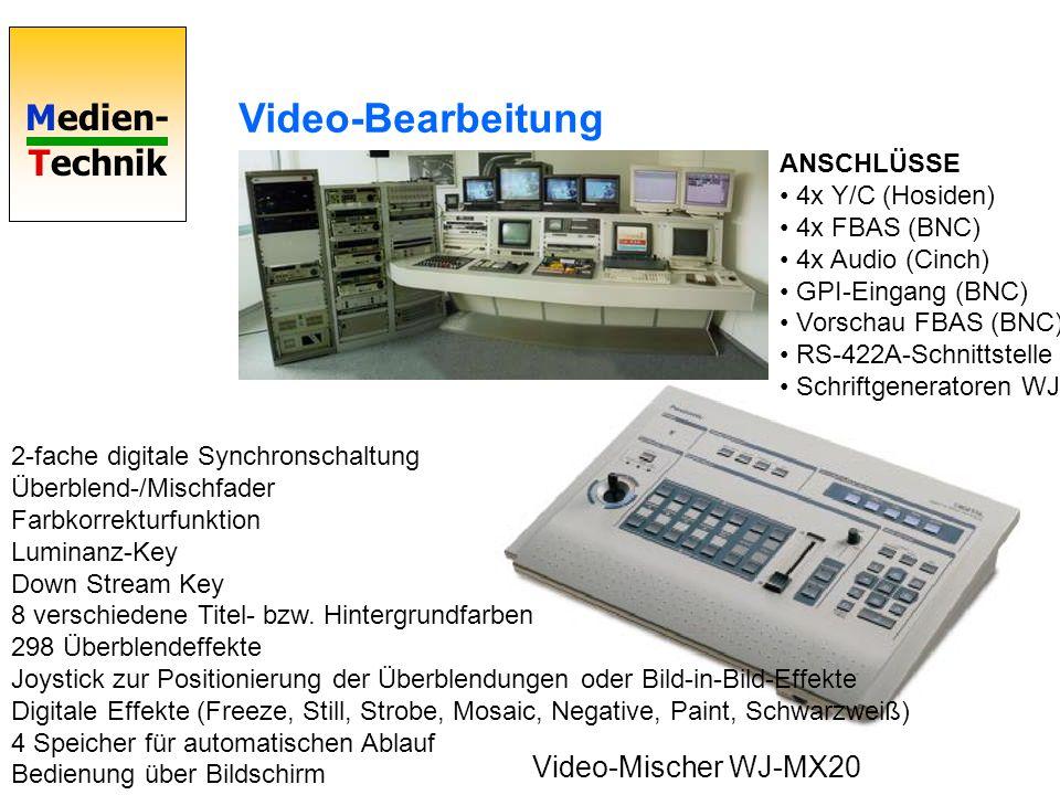 Medien- Technik Video-Mischer WJ-MX20 2-fache digitale Synchronschaltung Überblend-/Mischfader Farbkorrekturfunktion Luminanz-Key Down Stream Key 8 ve