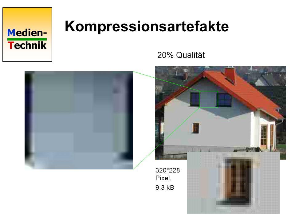 Medien- Technik Kompressionsartefakte 20% Qualität 320*228 Pixel, 9,3 kB