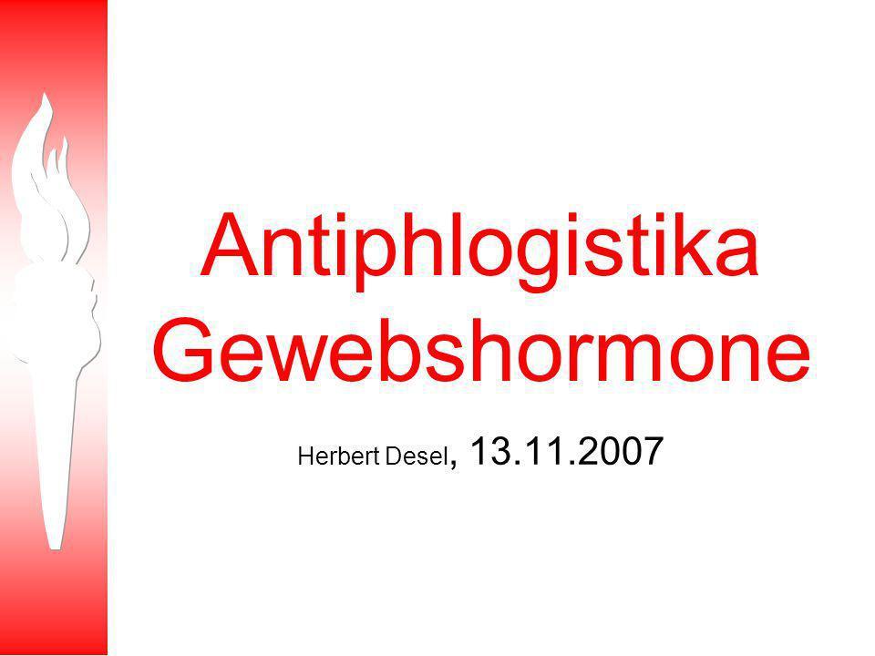 Lerninhalte WS 07/08 Kurstermin Antiphlogistika.
