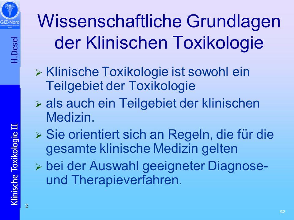 H.Desel Klinische Toxikologie II /32 13 PGE (insb.