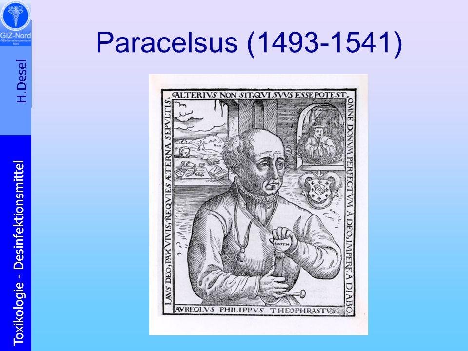 H.Desel Toxikologie - Desinfektionsmittel Paracelsus (1493-1541)