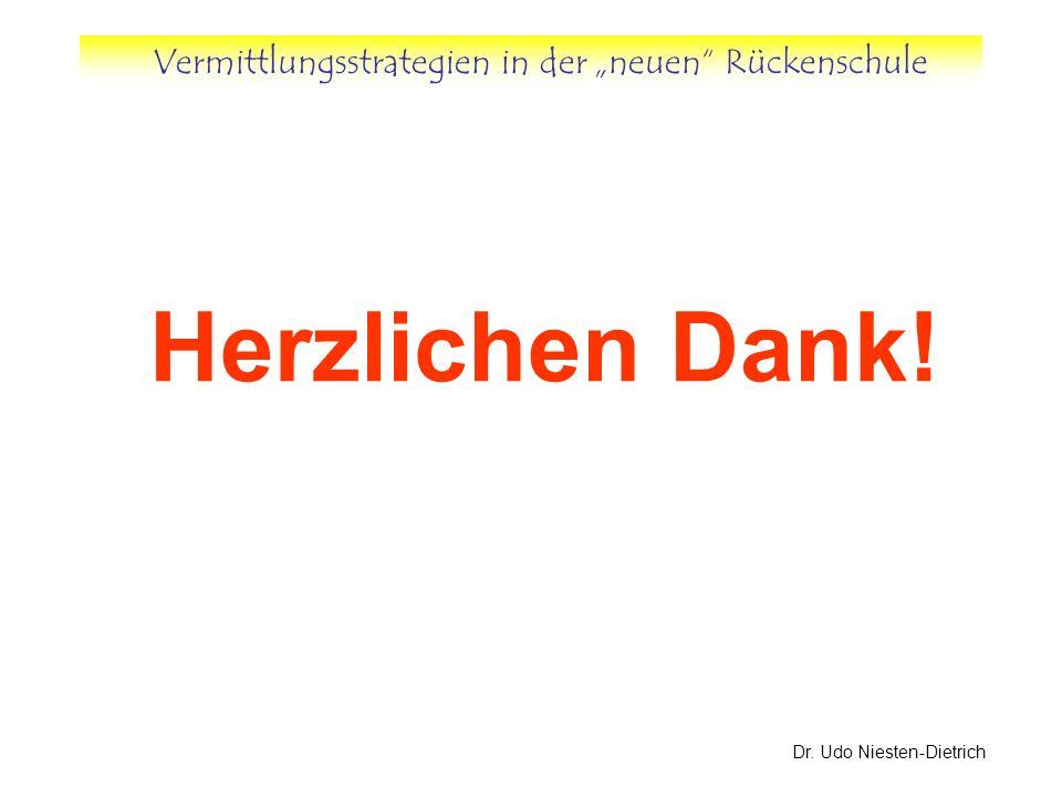 Vermittlungsstrategien in der neuen Rückenschule Dr. Udo Niesten-Dietrich Herzlichen Dank!