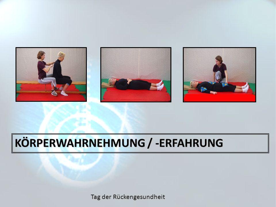 Tag der Rückengesundheit KÖRPERWAHRNEHMUNG / -ERFAHRUNG