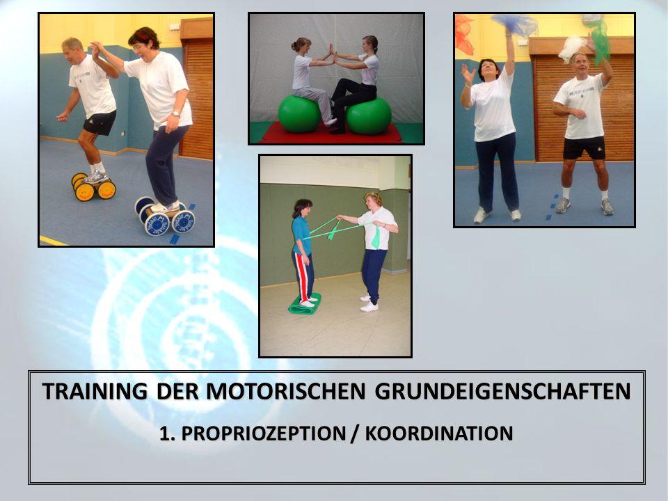 TRAINING DER MOTORISCHEN GRUNDEIGENSCHAFTEN 1. PROPRIOZEPTION / KOORDINATION
