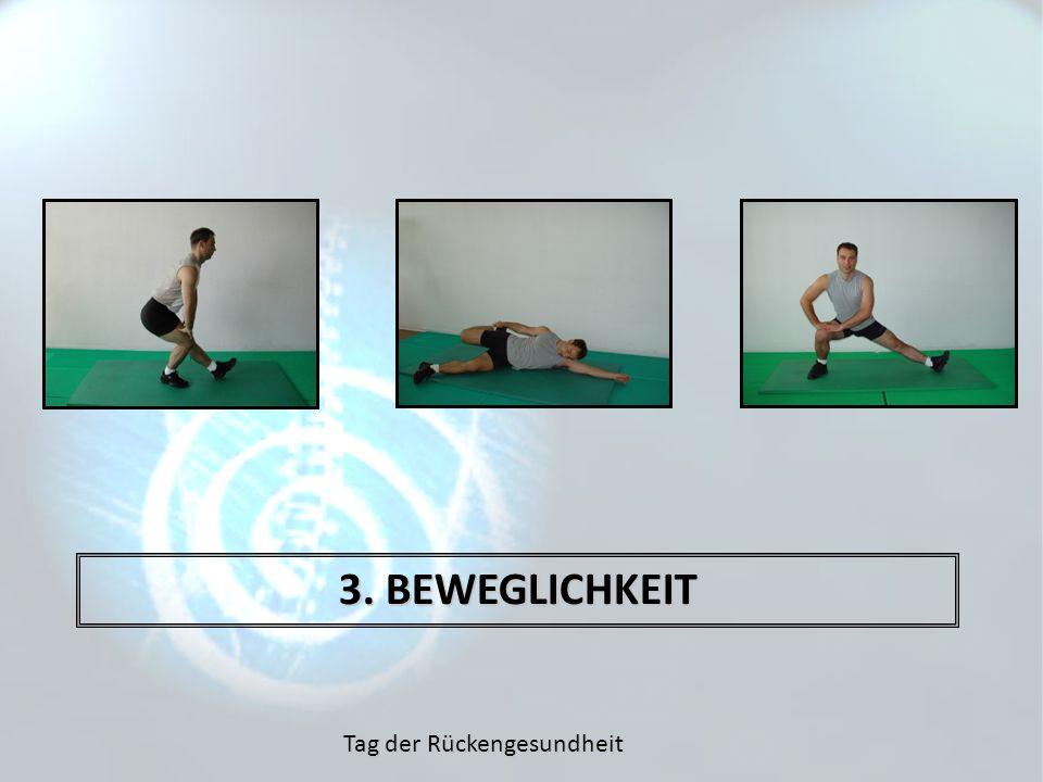 Tag der Rückengesundheit 3. BEWEGLICHKEIT