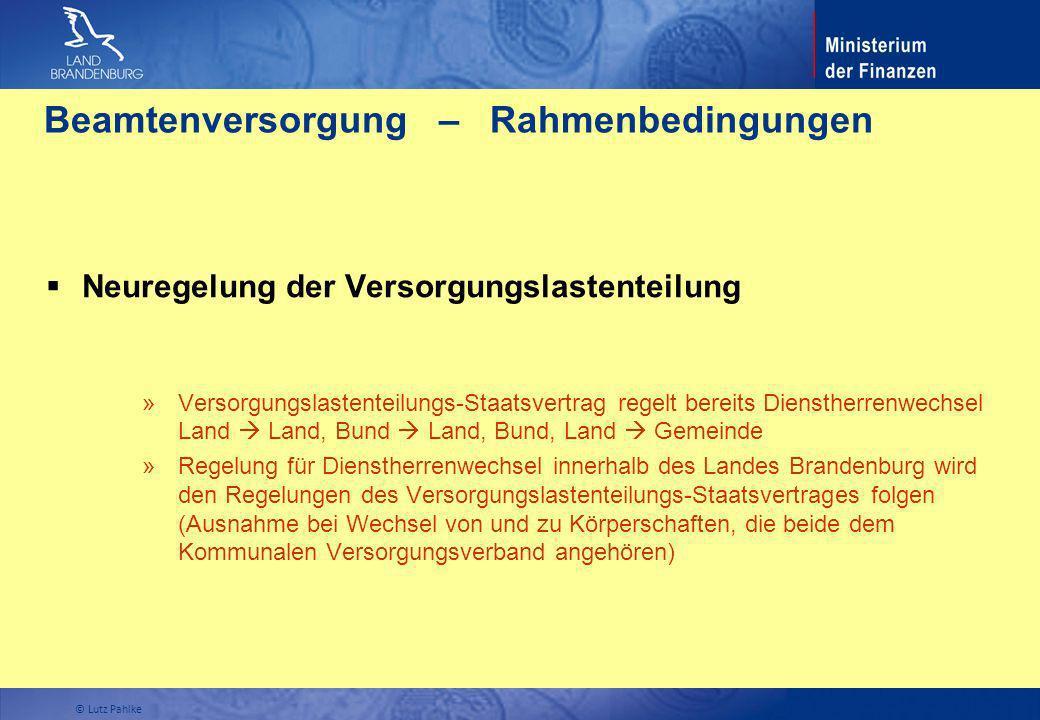 Beamtenversorgung – Rahmenbedingungen Neuregelung der Versorgungslastenteilung » Versorgungslastenteilungs-Staatsvertrag regelt bereits Dienstherrenwe