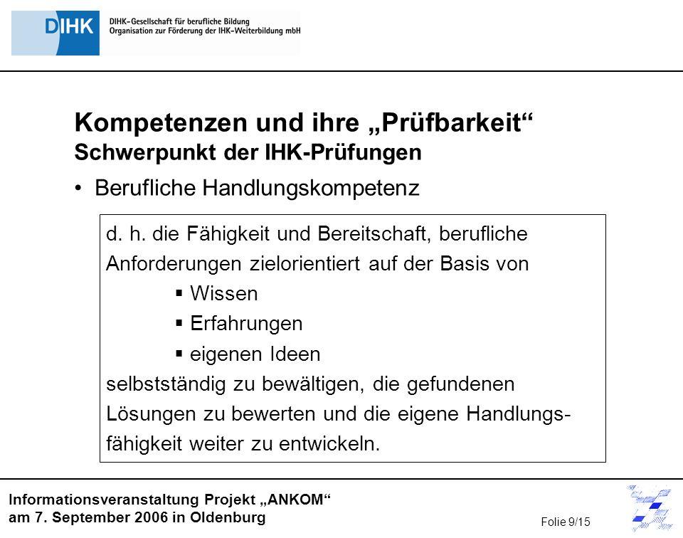 Informationsveranstaltung Projekt ANKOM am 7.