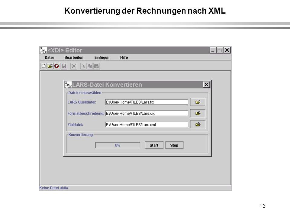 12 Konvertierung der Rechnungen nach XML