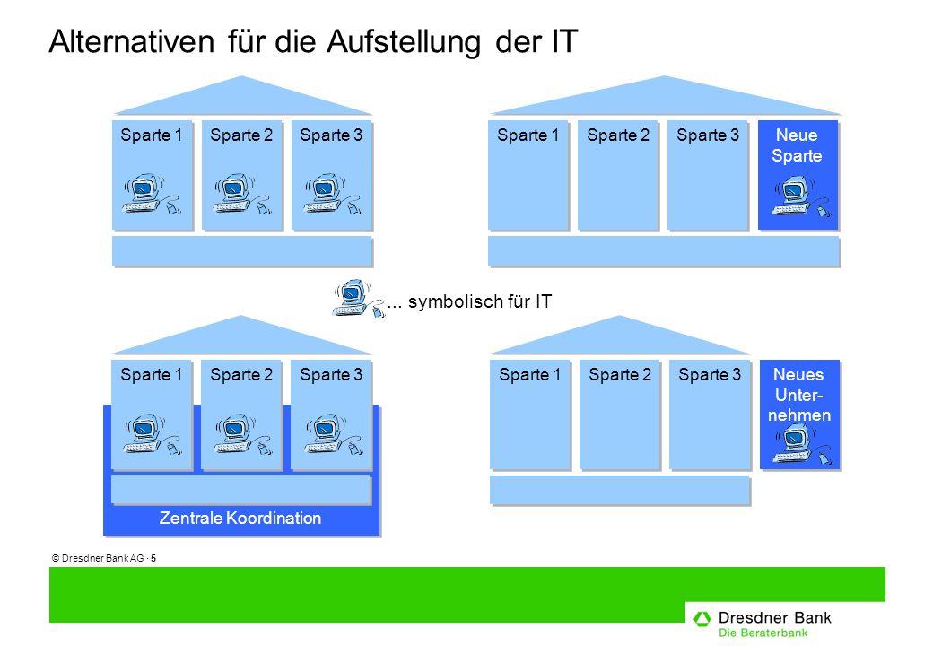 © Dresdner Bank AG · 5 Alternativen für die Aufstellung der IT...
