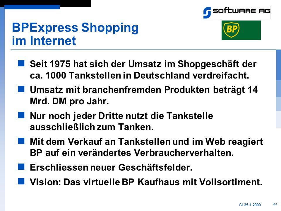 11GI 25.1.2000 Seit 1975 hat sich der Umsatz im Shopgeschäft der ca. 1000 Tankstellen in Deutschland verdreifacht. Umsatz mit branchenfremden Produkte