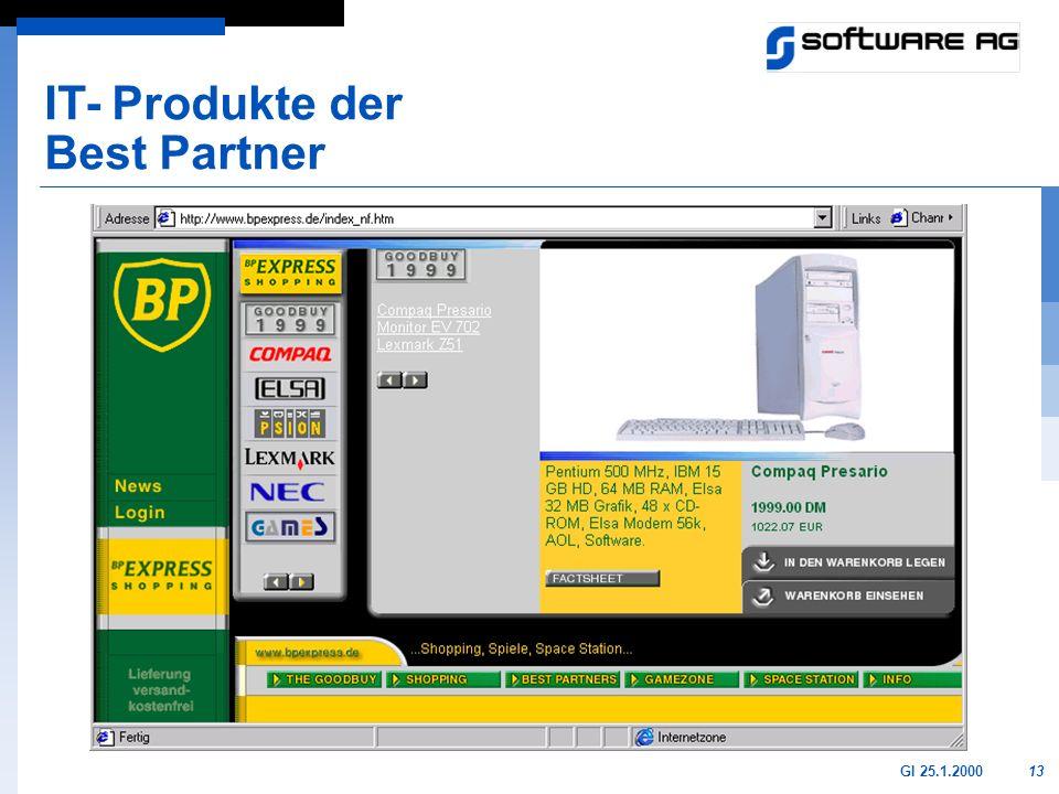 13GI 25.1.2000 IT- Produkte der Best Partner