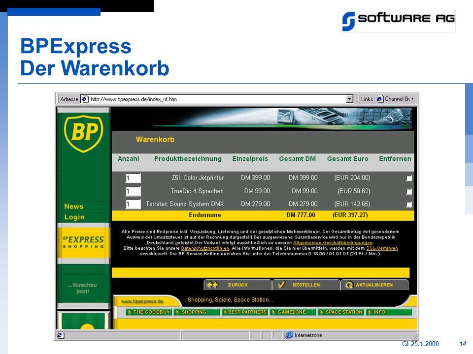 14GI 25.1.2000 BPExpress Der Warenkorb