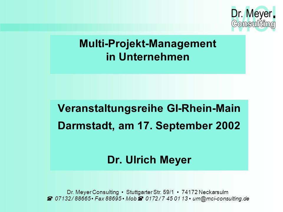 Innovative Lösungen für kreative Unternehmer GI-Rhein-Main, Darmstadt, 17.09.2002 Management – Consulting – Innovation Dr.